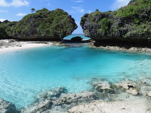 sailors paradise blue water lagoon in Fulanga Fiji