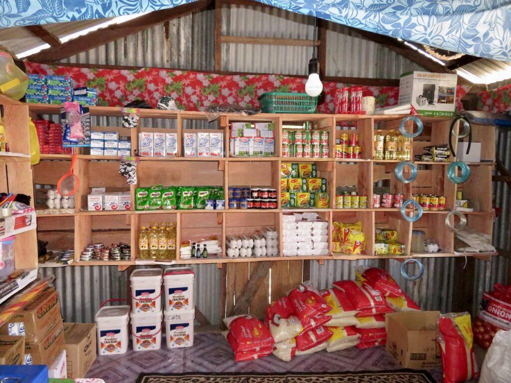 Verproviantierung Vorrat haltbarer Lebensmittel in FIdschi